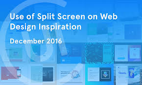 use of split screen on web design inspiration u2014 december 2016