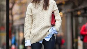 25 ways to pull off an oversized sweater this fall stylecaster