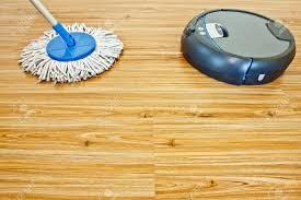 mopping laminate floors