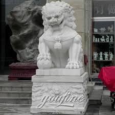 asian lion statues asian foo dog lion statues pair in front of house marble