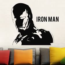 online get cheap ironman wall stickers aliexpress com alibaba group hwhd ironman wall decal stickers marvel comics decor modern stickers vinyl black free shipping china