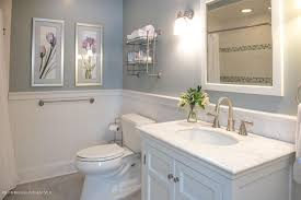 wainscoting ideas for bathrooms attractive cottage bathroom with wainscoting wall sconce in