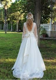 bohemian wedding dress flower wedding drwess fairy gown