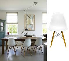 White Plastic Dining Chair Get The Look With Modern Dining Chairs Style Home