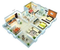 house design with floor plan 3d home design plans duplex floor plan 3d home design plans software
