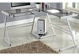 3 piece glass desk 3 piece computer desk 3 piece corner computer desk by monarch