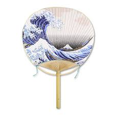 uchiwa fan japanese online shop marugame uchiwa fan fuufu hokusai s wave