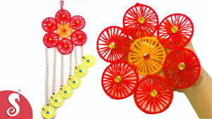 diy woolen wall hanging from wastage bangles for home decoration