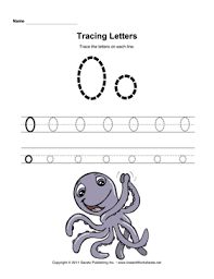 tracing letters o u2014 instant worksheets