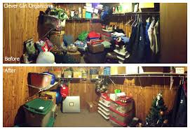 before and after storage room cedar closet