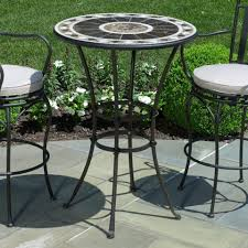 Bar Height Patio Dining Set Bar Height Patio Furniture Stools Outdoor Chairs Dining Table And