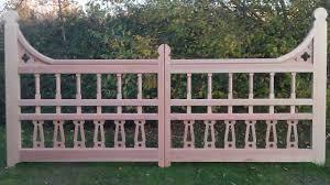 bespoke wooden gates victorian style youtube