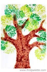leaf prints tree craft crafts firstpalette