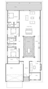 Modern House Floor Plans With Pictures Modern House To Narrow Lot Closed Courtyard Garage Three
