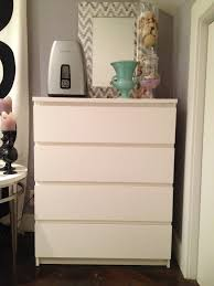 bedroom simple black ikea malm dresser with small table lamp