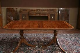 pedestal dining table with leaf pedestal dining room table double pedestal dining table with leaves