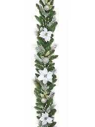 white garland buy 1 8m 6ft poinsettia christmas garland white from seasons