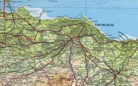 Road Map Of Scotland Maps Of Edinburgh Detailed Map Of Edinburgh In English Maps Of