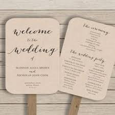 program fans wedding fan wedding programs ceremony spaces details fan