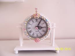 Bling Alarm Clock White Cottage Chic August 2010