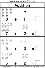 kindergarten addition and subtraction worksheets student