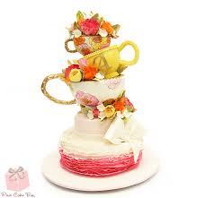whimsical bridal shower tea party cake bridal shower cakes