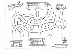transportation maze worksheet for kids 1 crafts and worksheets