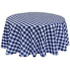 la linen checkered tablecloth 60 by 120 inch navy