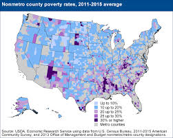 Map Of The Southern United States by Usda Ers Geography Of Poverty