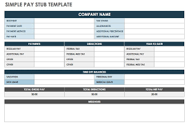 Check Stub Template For Excel Free Pay Stub Templates Smartsheet