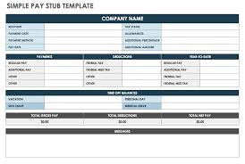 Excel Paystub Template Free Pay Stub Templates Smartsheet