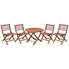 alexander rose cornis folding children u0027s set with 4 folding chairs