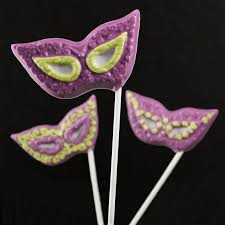 mardi gras painted mask pops inspired home candy making