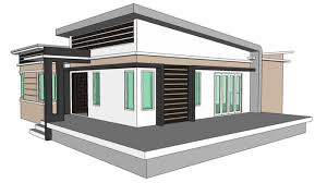 modern style single storey 2 bedroom home concept u2014 nkd
