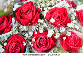 money bouquet bouquet money wrapping stock photo 560876614