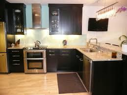 kitchen modern style kitchen with black laminated wooden kitchen