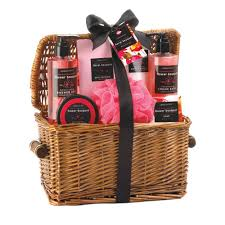 Spa Gift Baskets For Women Bath And Body Gift Set Womens Spa Basket Floral Scent Ebay