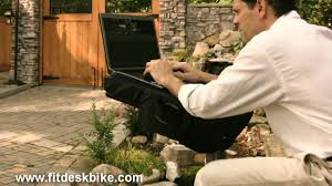 Recumbent Bike Desk Diy by Folding Laptop Exercise Bike For Computing And Gaming Made By