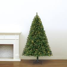 holiday living 6 5 ft pre lit pine artificial christmas tree with