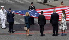 French And American Flags Bastille Day France Gives Big Nod To Us At Annual Parade Naples