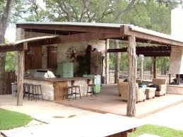 Outdoor Bar Cabinet Doors Best 25 Rustic Outdoor Kitchens Ideas On Pinterest