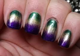 mardi gras nail did it mardi gras gradient nails