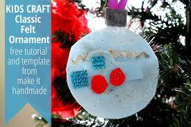 make it handmade handmade christmas ornament kids craft with