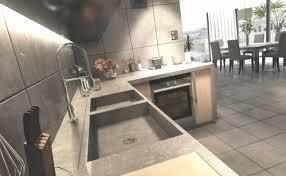 cuisine en beton catchy cuisine en beton id es de d coration ext rieur chambre a