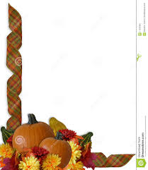 thanksgiving autumn fall ribbons border stock illustration image
