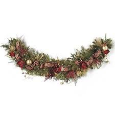 pre decorated christmas garlands u2013 happy holidays