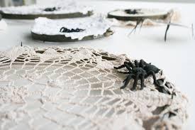diy halloween doily spider webs salty canary