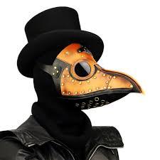 leather plague doctor mask orange leather plague doctor mask madburner