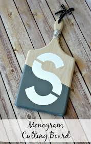 monogramed cutting boards monogram cutting board oh my creative