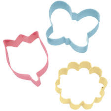 3 pc flower cookie cutter set walmart com